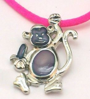 New Monkey Mood Color Change Pendant Colorful Necklace Gift Boxed