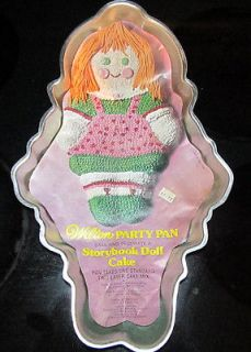 Wilton Cake Pan Happy Birthday Dessert Story Book Storybook Doll Girl