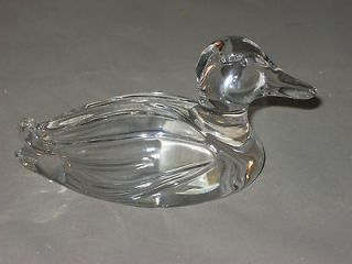 Princess House 24% Lead Crystal Mallard Duck Figurine Paper Weight W