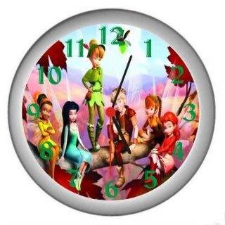TINKERBELL PETER PAN WHITE DECOR WALL CLOCK NEW
