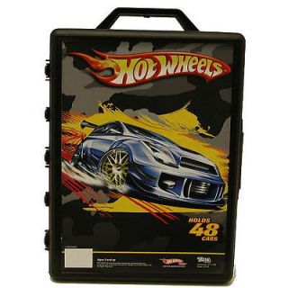 OF HOTWHEELS & MATCHBOX & MISC CARS & 48 CAR CARRY CASE 2ND GENERATI