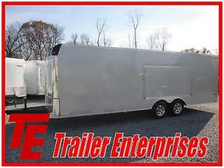 NEW 13 UNITED 8.5 X 24 ENCLOSED 10K CAR TRAILER W/ EXTENDED TONGUE