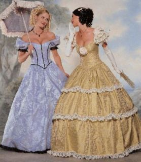 6195 UNCUT SEWING PATTERN Civil War Ball Gown Fancy Dress OOP 18 22