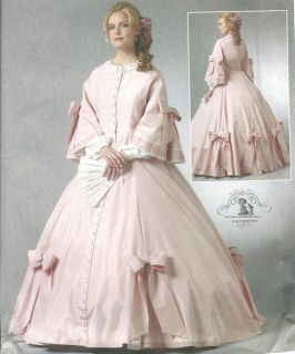Butterick Dress Civil War Ball Gown Costume Pattern 5543 B36 42 14 20