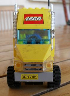 LEGO Yellow Semi Trailer Truck and Driver