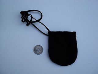 TAN LEATHER BAG POUCH ARTS CRAFTS MOUNTAIN MAN POW WOW BLACK POWDER 2