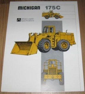 Michigan 175C Wheel Loader Specification Sales Brochure