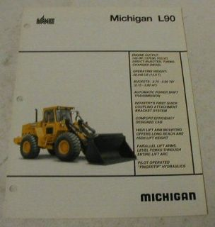 Michigan 1991 L90 Wheel Loader Sales Brochure