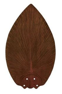 Dark Mahogany Tropical / Safari Fan Blades from the Island Breezes