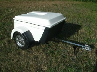 500 ON NEW CUSTOM PULL BEHIND MOTORCYCLE or STREET ROD CARGO TRAILER