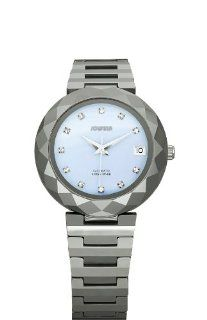 Blue Mother of Pearl Tungsten Bracelet Date Watch Watches