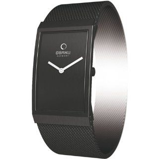 Obaku Mens V127LBBMB Black Stainless Steel Quartz Watch with Black