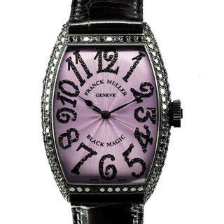 Franck Muller Womens Black Magic 5850 White Gold Black Diamonds