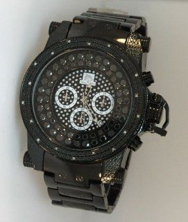 Techno Master Mens Jumbo Face Black Diamond Watch Watches