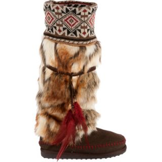 Muk Luks Womens Lola Tall Faux Fur Boots with Knit Cuffs  Meijer