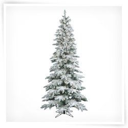 Vickerman 7.5 ft. Flocked Slim Utica Fir Dura Lit Christmas Tree