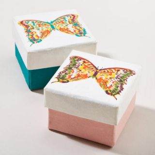Bali Butterfly Small Jewelry Gift Boxes, Set of 2  World Market