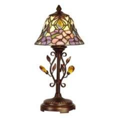 Dale Tiffany Crystal Jewel Pebblestone Art Glass Accent Lamp