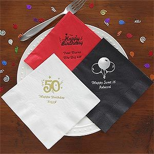 Personalized Birthday Party Napkins   9198