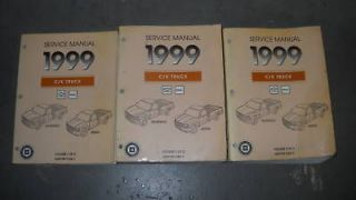 1999 Chevy Chevrolet Silverado TRUCK Service Shop Repair Manual Set