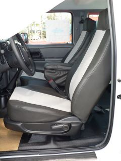 2006 2009 Ford Ranger Front Row Exact Seat Covers in Black & Red