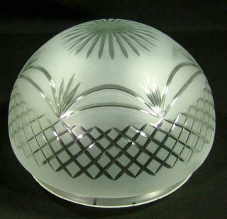 ART DECO CUT SATIN FROSTED GLASS CEILING LIGHT LAMP SHADE GLOBE SPHERE