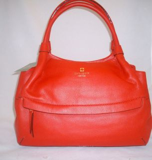 Kate Spade Handbag STEVIE Grant Park Leather Geranium NWT $428