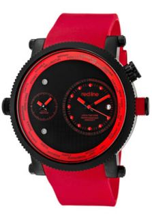 Red Line 50037 BB 01 RD Watches,Mens Specialist World Time Black