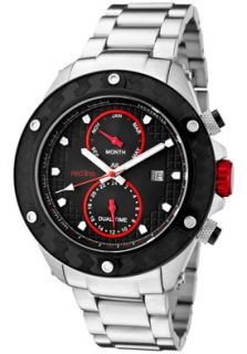 Red Line 10106 Watches,Mens Carbon Brake Black Dial Stainless Steel