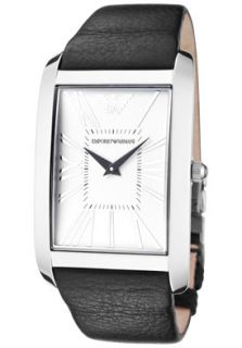 Emporio Armani AR2030 Watches,Mens Super Slim White Dial Black
