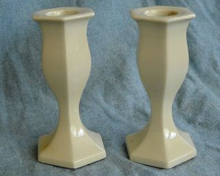 Of White China Candle Holders, Hallmark Candles, Japan. 4 1/4Tall