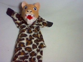 VINTAGE CHEETAH ANIMAL HAND PUPPET WITH FEET CREATED BY HAZELLE INC 13