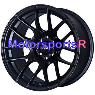 530 Flat Black Wheels Rims Concave Stance 98 Honda Civic Hatch SI EX