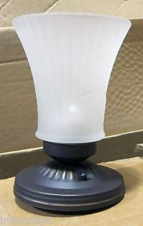 Hampton Bay 401 415 Ceiling Fixture Light Frosted Glass Oil Rubbed