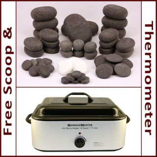 STONE MASSAGE KIT 50 Basalt/Marble Stones + 18 Quart Hot Stone Heater