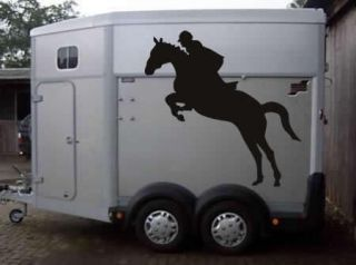 STICKER DECAL JUMPING HORSE 100CM X 100CM HORSE BOX TRAILER PONY
