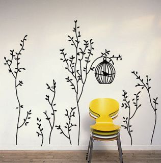 New Cute Bird Cage&Trees Removable Wall Sticker Decals Vinyl Decor