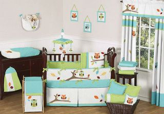 OWL THEMED GENDER NEUTRAL BABY BOY GIRL CRIB BEDDING SET COLLECTION