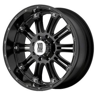 16x8 KMC XD Series Hoss XD795 5,6,8 Lug Black Wheels 4 New FREE Caps