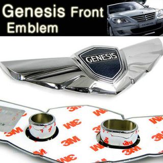 HYUNDAI GENESIS Hood Top Front Emblems Genuine Sedan 2009 2010 2011