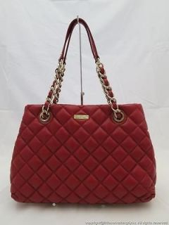 kate spade new york gold coast maryanne chained tote shoulder bag red