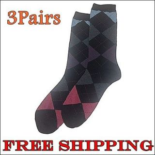 Pairs Mens Argyle Socks Shoes Dress Casual Crew sock shoe 10 13sz E5