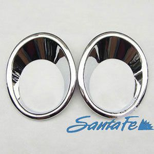 2010 2012 Hyundai Santa Fe Chrome Front Fog Light Lamp Cover Trim 2pcs