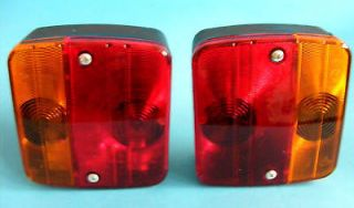 Britax Rear 4 Way Oblong Lamp Light Cluster for Horse Box & Trailers