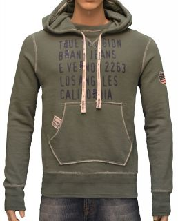 True Religion Brand Jeans Mens California USA Flag Hoodie Sweatshirt