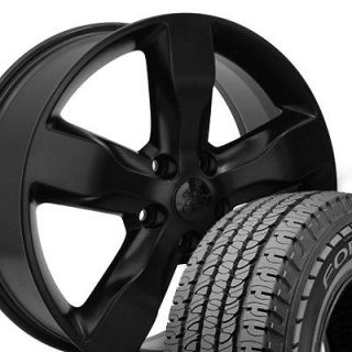 20 Jeep Grand Cherokee Matte Black Wheels Set of 4 OEM 9107 Rims