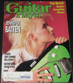 Guitar Player Magazine July 1989 Jennifer Batten