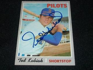 Seattle Pilots Ted Kubiak Auto Signed 1970 Topps Hi # Card #688 TOUGH