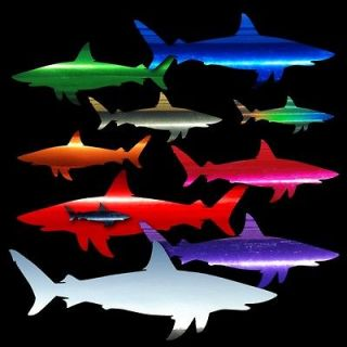 Shark C Chrome Film Auto Car Window Boat Stickers Decals Fishing Surf