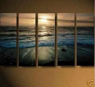Hot sale 5PC MODERN ABSTRACT HUGE WALL ART OIL PAINTING ON CANVAS